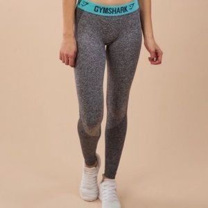 Gymshark Flex Leggings- Grey/Teal Size M